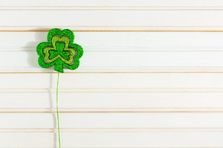 St. Patricks Day concept with Irish shamrocks Stok Fotoğraf