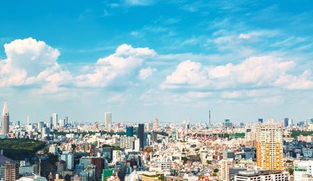 View of the Shinjuku skyline from Shibuya, Tokyo, Japan Stock Photo - 96533635