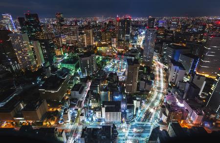 Aerial view of the Tokyo cityscape at night Archivio Fotografico - 97128077