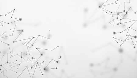 Abstract lines and connecting dots technology background