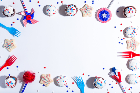 Fourth of July American party theme with desserts