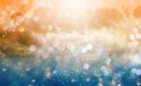 Beautiful abstract shiny light and cludscape background Фото со стока - 108118391