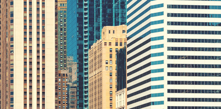 Chicago skyline skyscrapers close up background buildings Stock Photo - 110289165