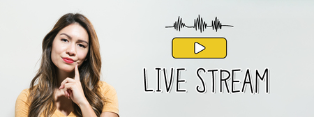 Live stream with young woman in a thoughtful fac