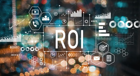 ROI with blurred city abstract lights background