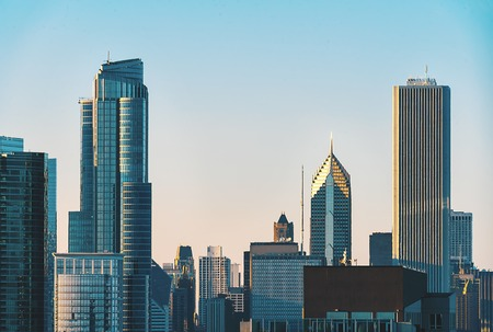 Chicago skyline skyscrapers and cityscape during late afternoon Stock Photo - 111866329