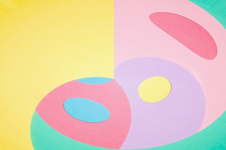 Abstract geometric curving shapes pastel pattern background Stockfoto - 112072421