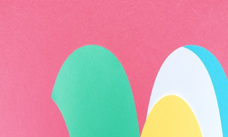 Abstract geometric curved shapes pastel pattern background