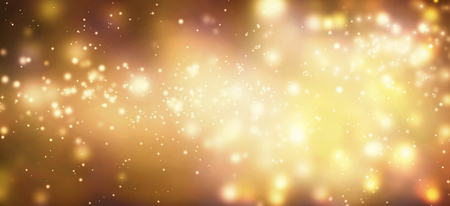 Golden abstract shiny light and glitter background