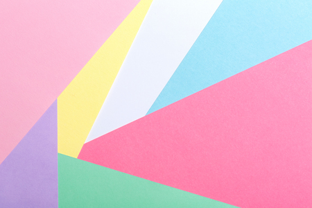 Abstract geometric pattern background with pastel paper