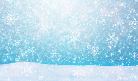 Winter snowfall landscape background with snow hill