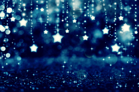 Beautiful shiny stars with abstract light background 免版税图像 - 113170771