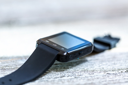 smartwatch on a bright interior room background