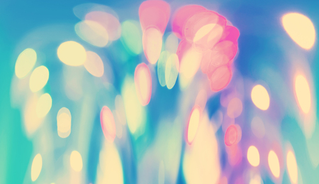 Blurred abstract bokeh urban night time background Banco de Imagens