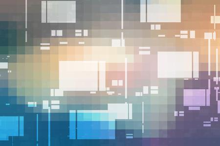 Abstract digital technology mosaic squares gradient background Reklamní fotografie