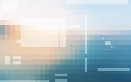 Abstract digital technology mosaic squares gradient background Imagens