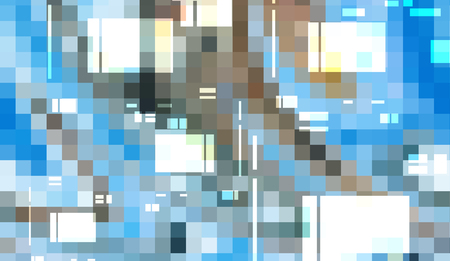 Abstract digital technology mosaic squares gradient background Stock Photo