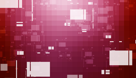 Abstract digital technology mosaic squares gradient background Stockfoto