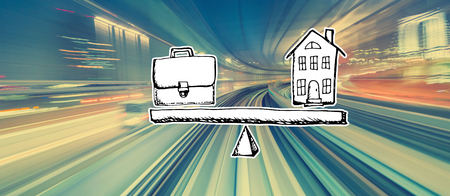 Work-Life-Balance mit abstrakter High-Speed-Technologie POV-Bewegungsunschärfe