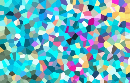 Abstract low poly mosaic shapes background illustration Archivio Fotografico - 115822464