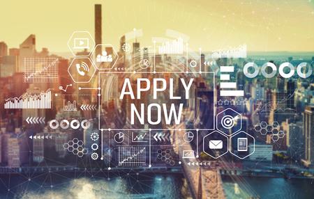 Apply now with the New York City skyline near midtown