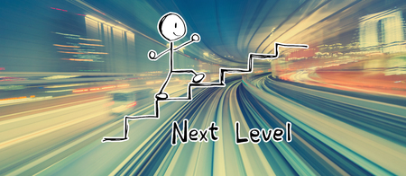 Next level concept with abstract high speed technology POV motion blur 版權商用圖片