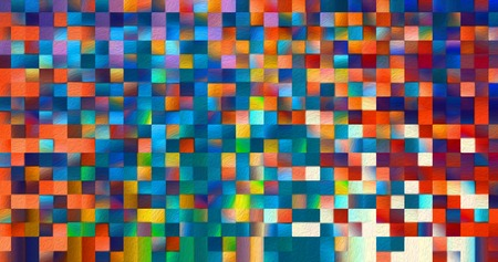 Abstract square blocks shapes gradient pattern background Фото со стока - 118386527
