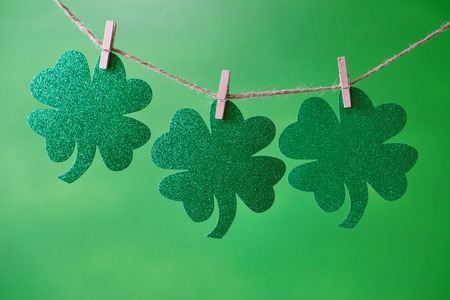 St. Patricks Day theme with ornaments and decorations Imagens