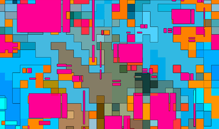 Abstract mosaic digital squares background pattern illustration