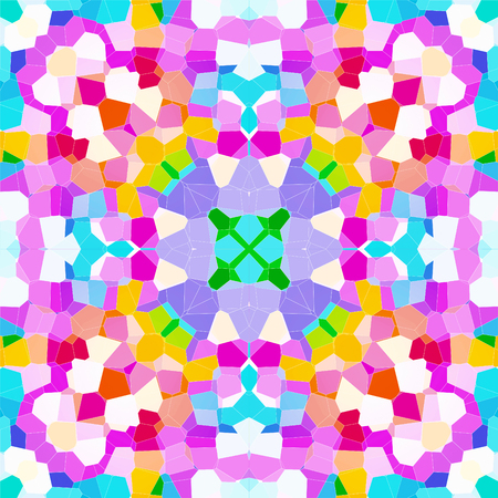 Abstract geometric symmetrical fractal background pattern design Imagens