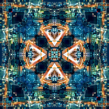 Abstract geometric symmetrical fractal background pattern design 写真素材