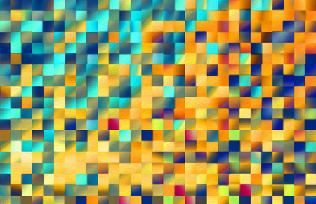 Abstract square blocks shapes gradient pattern background Stock Photo