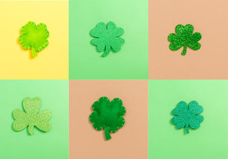 St. Patricks Day theme with flat lay decoration elements