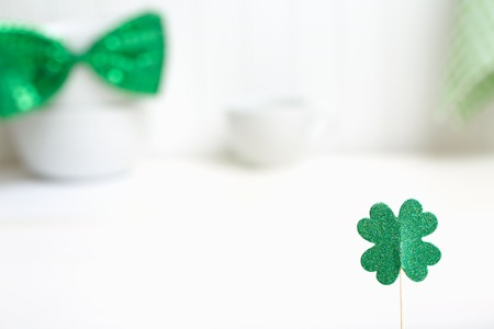 St. Patricks Day theme with ornaments and decorations Stock Photo