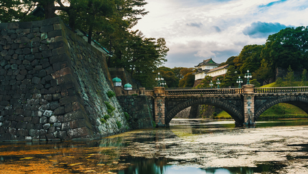 View of the Emperors Palace in Chiyoda, Tokyo, Japan 写真素材