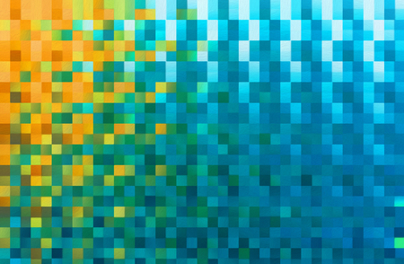 Abstract square blocks shapes gradient pattern background 写真素材