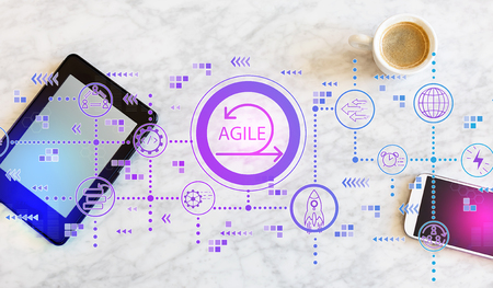 Agile concept with a tablet computer and smart phone