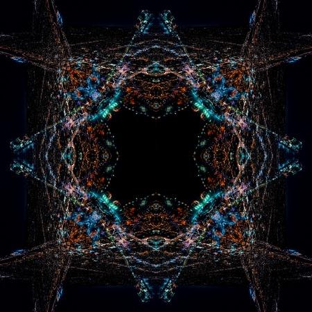 Diseño de patrón de fondo fractal simétrico geométrico abstracto Foto de archivo