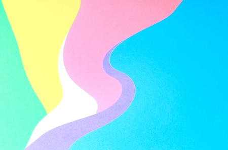 Abstract wavy multi colored paper background design Stock Photo