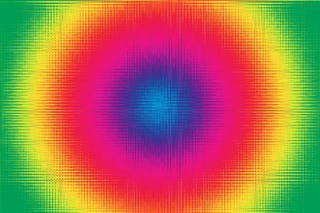 Radial rainbow burst gradient background graphic illustration design