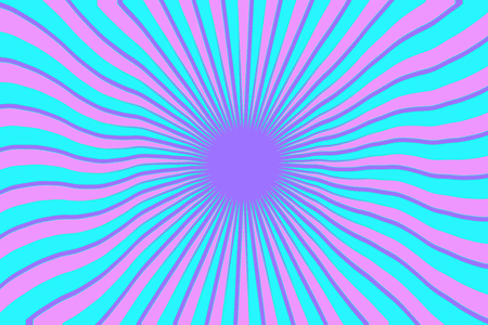 Radial stripes colorful background graphic illustration design Stock Photo