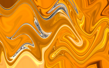 Abstract gold and silver marble liquid motion background design texture
