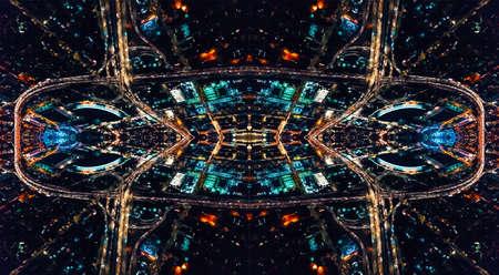 Abstract symmetrical urban grid cityscape backround design Banco de Imagens - 120268071
