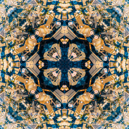 Abstract geometric symmetrical fractal background pattern design Stockfoto