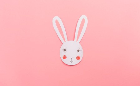 Easter bunny decoration holiday theme pm a pink background