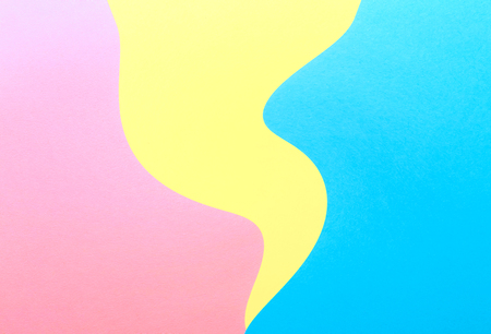 Abstract wavy multi colored paper background design 写真素材