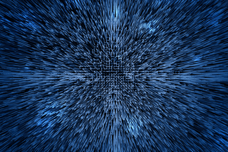 Abtract matrix space motion grid illustration design