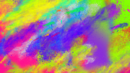 Abstract coloful neon party dust splashes background