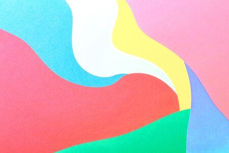 Abstract wavy multi colored paper background design Banco de Imagens - 124669050