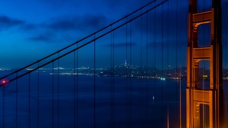 San Franciscos Golden Gate Bridge from Marin County Stock Photo